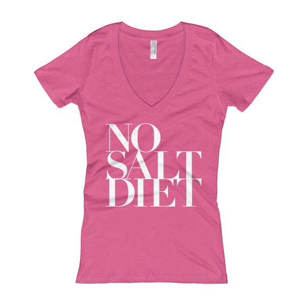 No Salt Diet Women's V-Neck T-shirt