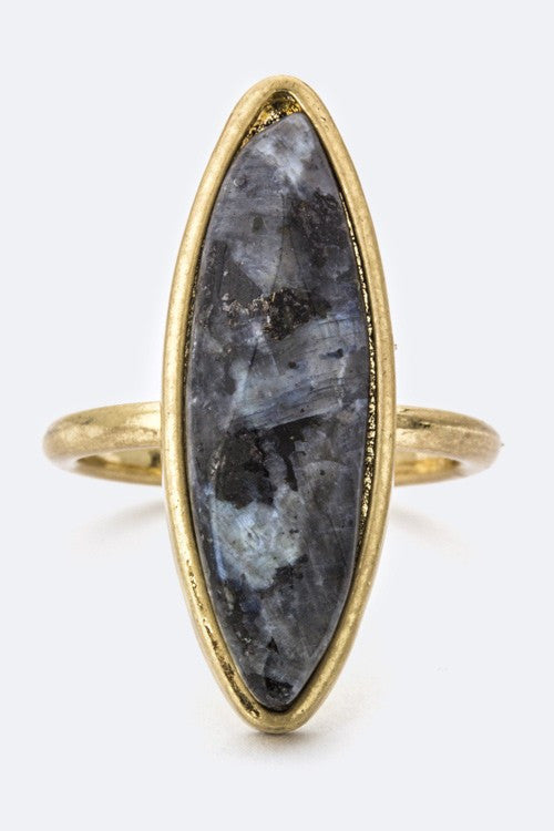 Forget Me Not Marquise Ring