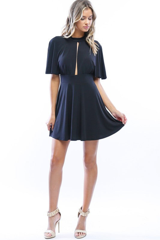 Subtle Seduction Flutter Sleeve Dress - Snatched