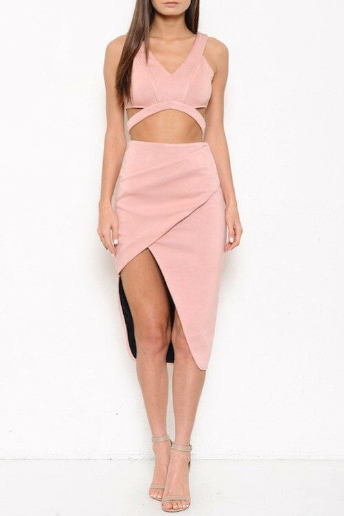 Blush Origami Two Piece - Snatched