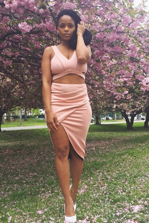 Blush Origami Two Piece