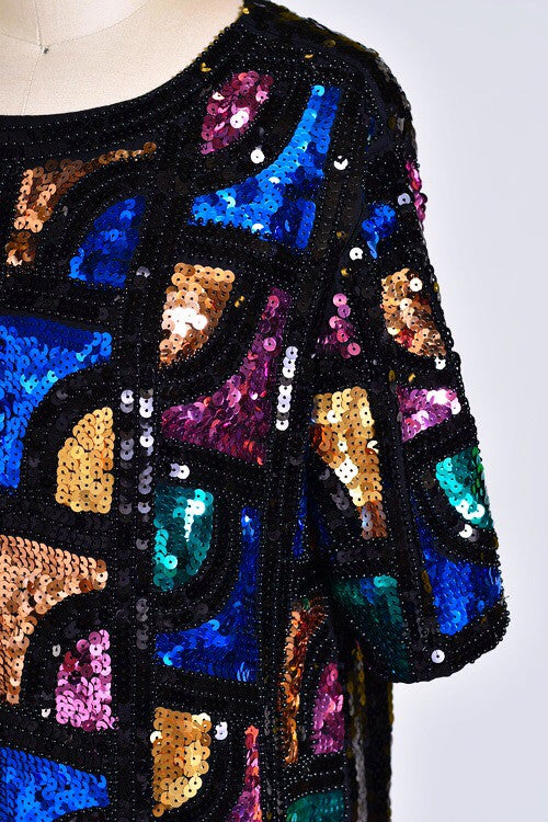 Jazzy Lady Sequin Shift Dress - Snatched  - 4