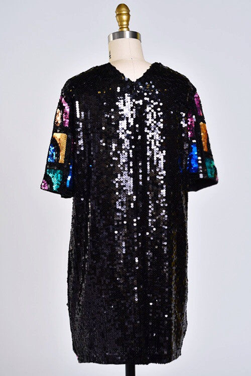 Jazzy Lady Sequin Shift Dress - Snatched  - 3