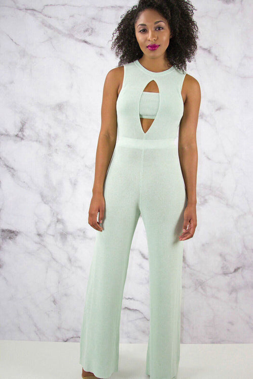 Rehab Knit Wide Leg Jumpsuit