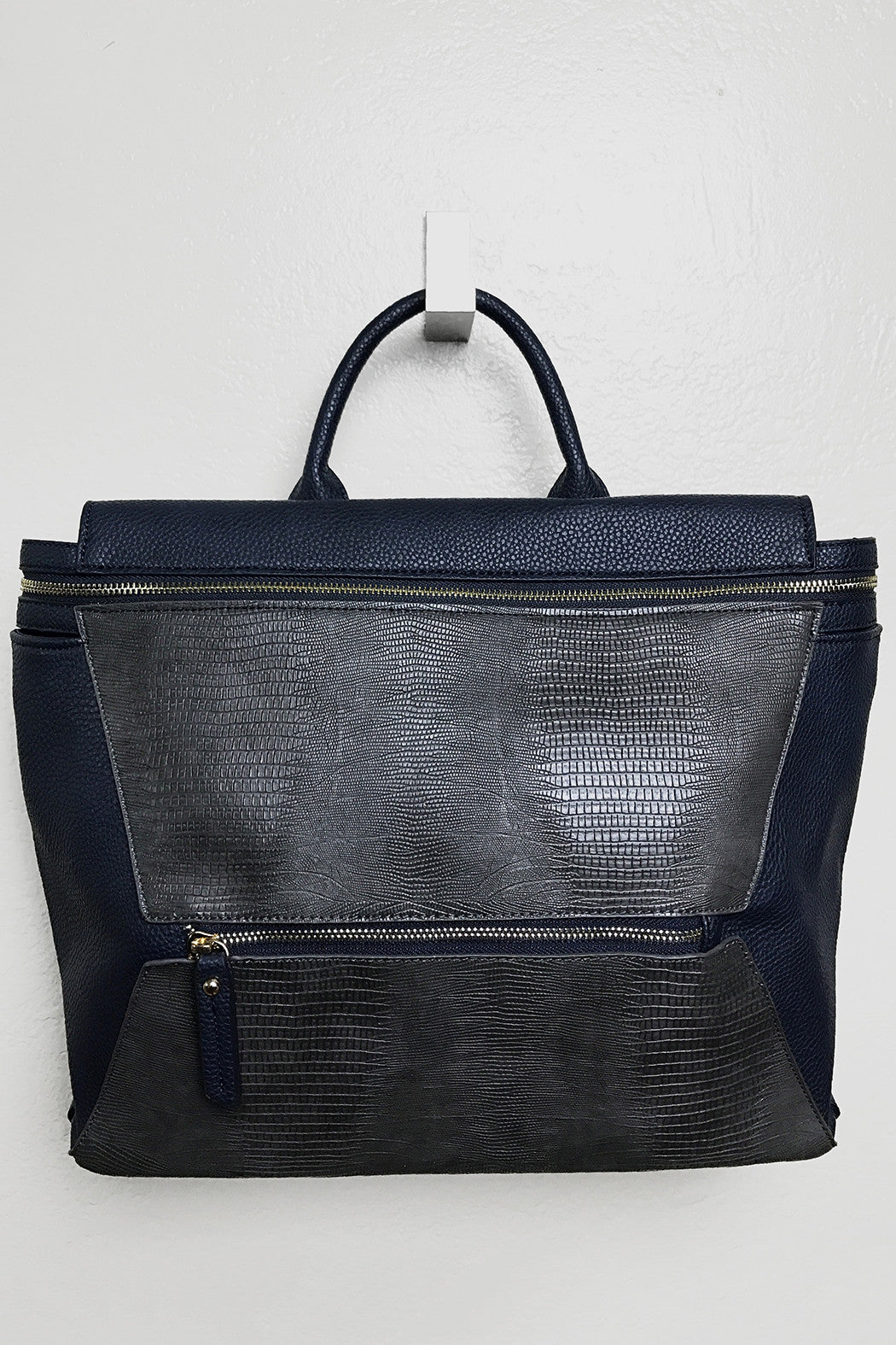 Weekday Navy Satchel - Snatched