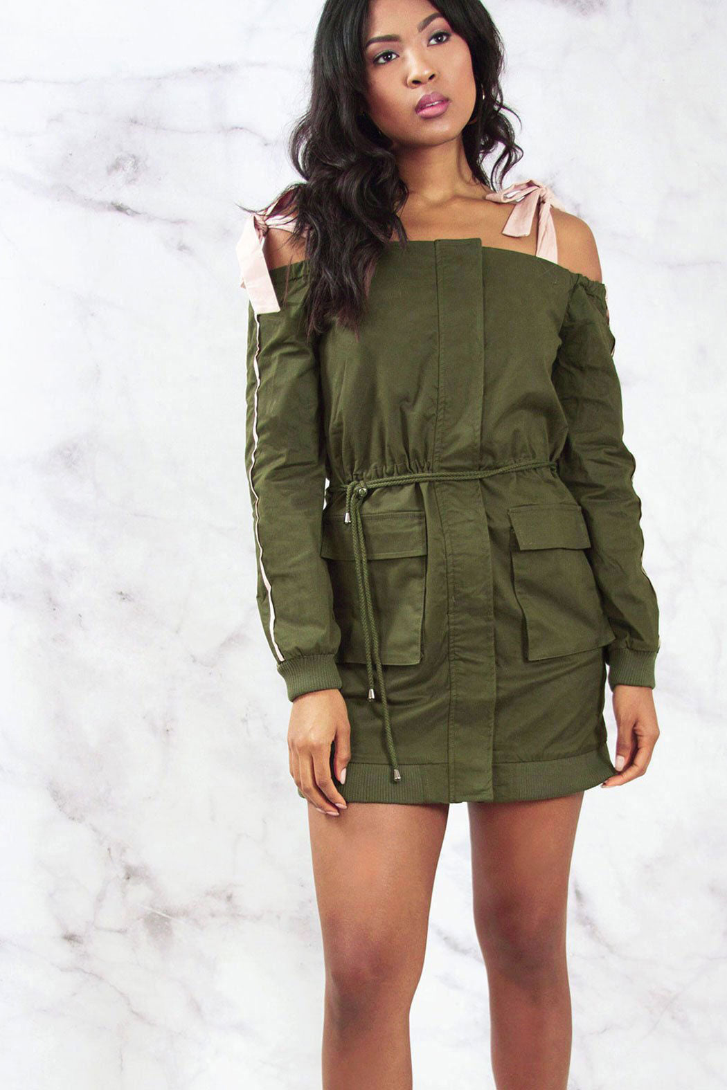 Parka Style Jacket Dress - Snatched