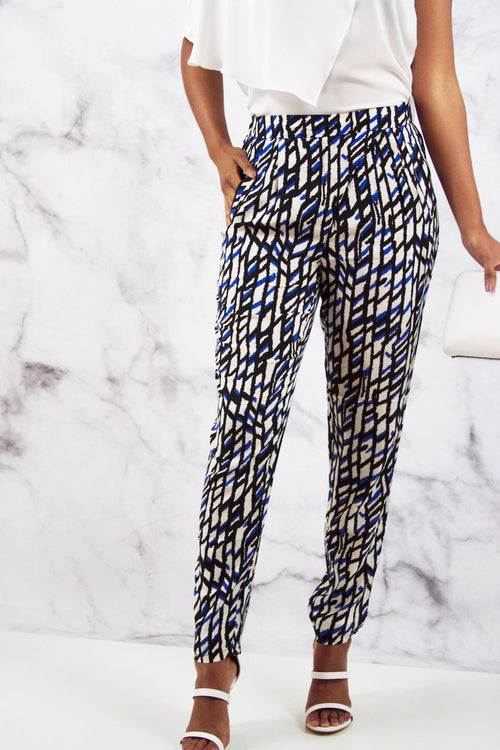 Printed Wrap Over Pants