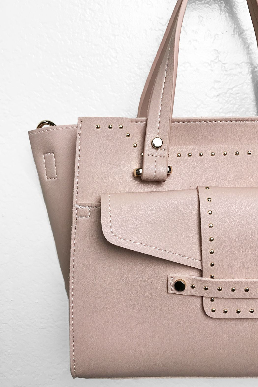 Studded Wing Woman Handbag - Snatched
