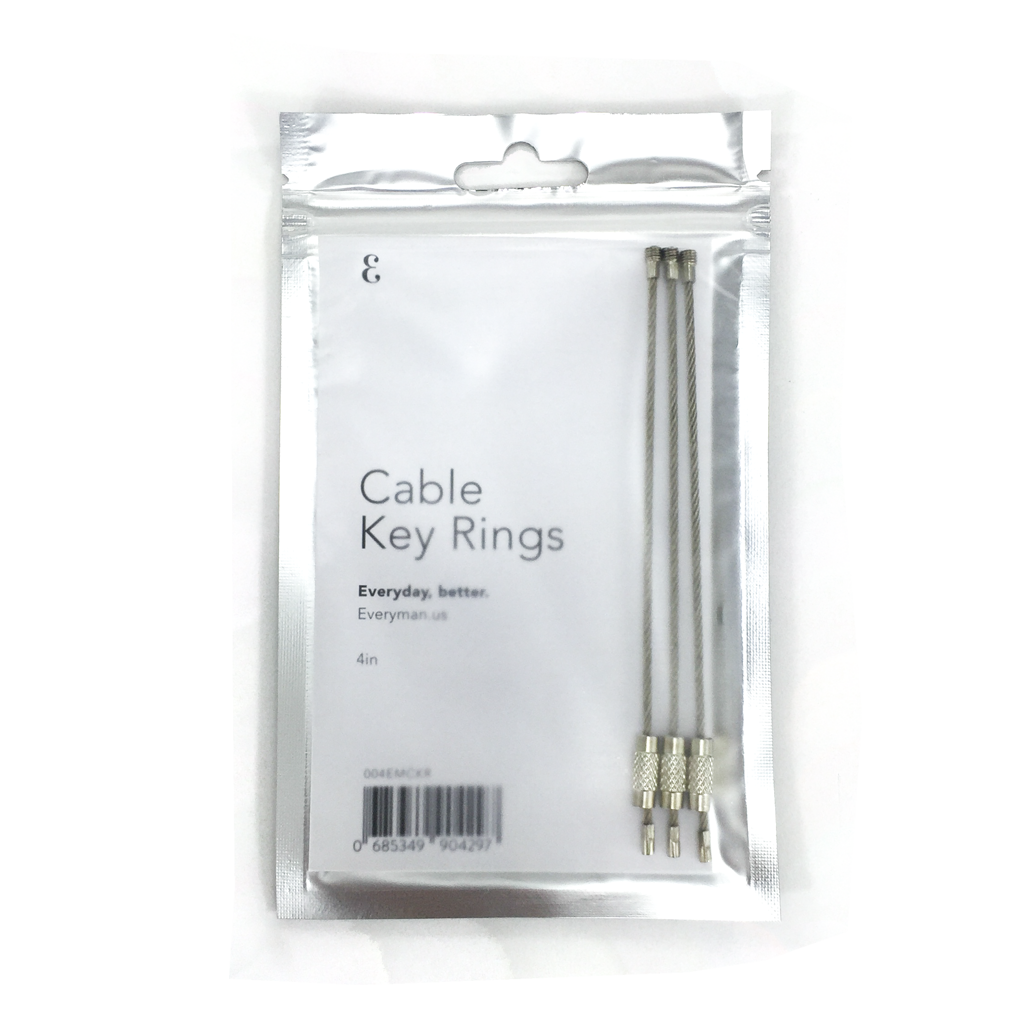 Cable Key Rings (3)