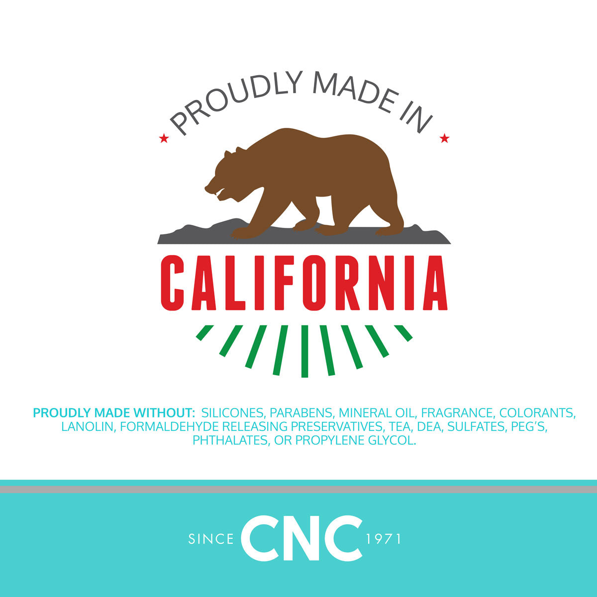 CNC botanics Proudly Made in California