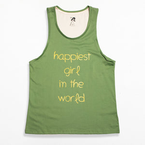 Boy Style Singlet - Jade Happiest Girl in The World