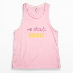 Boy Style Singlet - Pink We Should Cuddle