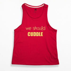 Boy Style Singlet - Red We Should Cuddle