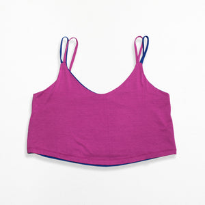 Reversible Crop Top - Orchid Blue