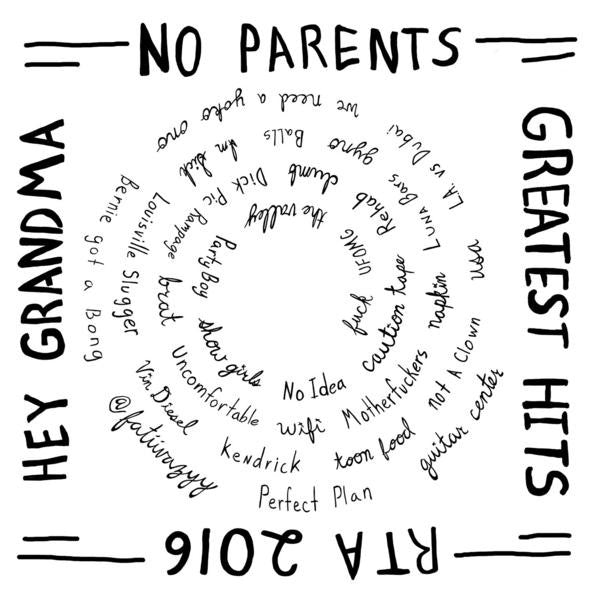 "No Parents 12"" 'Hey Grandma and The Greatest Hits'"