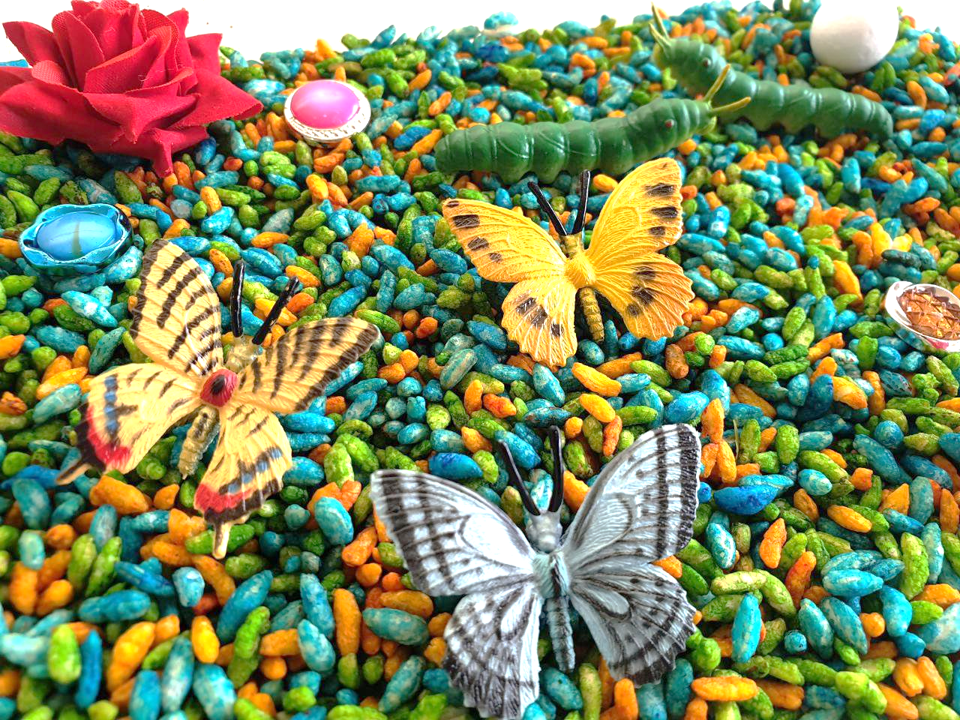 Butterflies and Math Sensory Bin