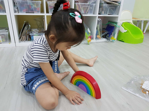 Playing with rainbow blocks
