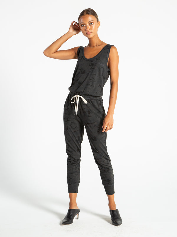 OPAL JUMPSUIT - BLACK CAMO