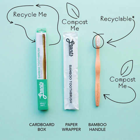 recycling and sustainability bamboo toothbrush