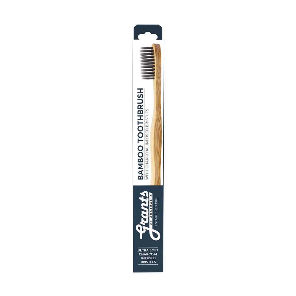 Adult Bamboo Toothbrush - Charcoal Ultra Soft