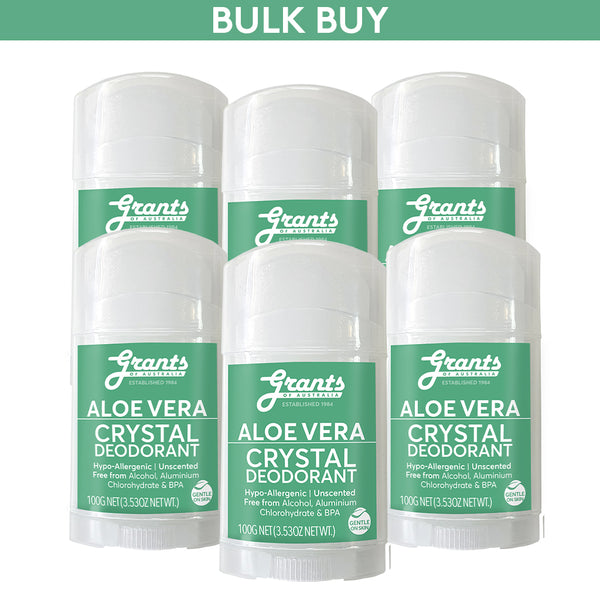 Crystal Deodorant - Aloe Vera - 100g - 6 sticks