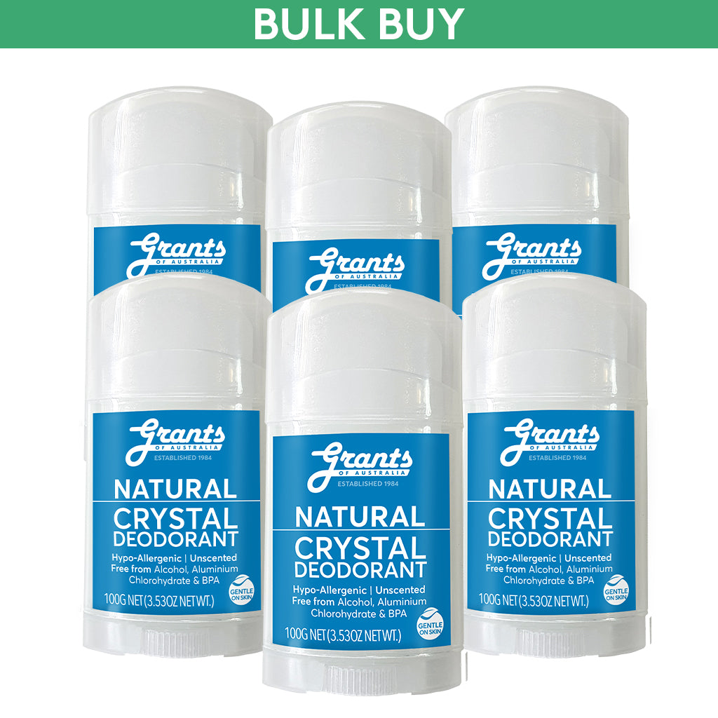 Crystal Deodorant - Natural - 100g - 6 sticks