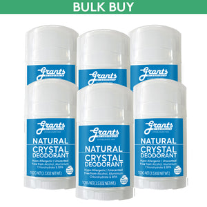 CRYSTAL DEODORANT - 6 STICKS