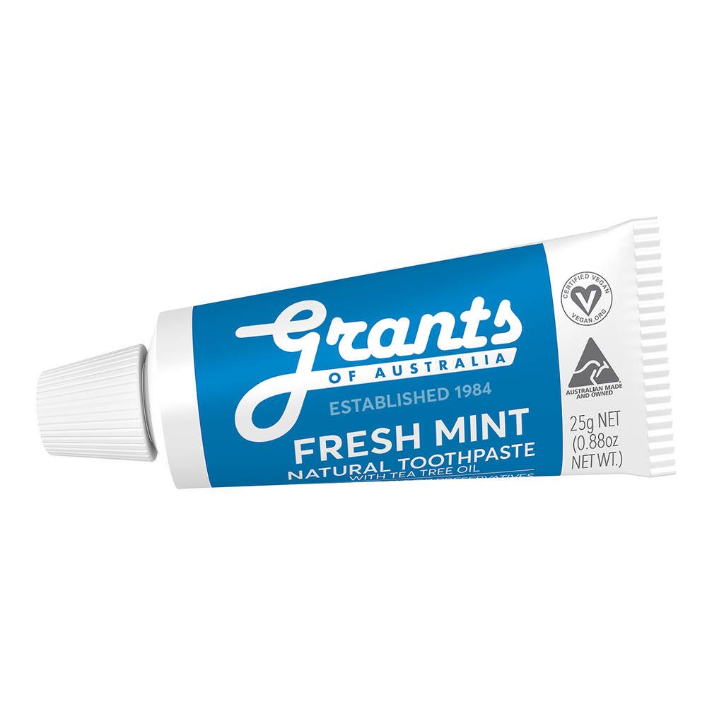 Fresh Mint Natural Toothpaste - Fluoride Free - Travel Size - 25g