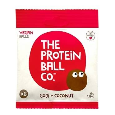 The Protein Ball Co - Goji & Coconut Protein Balls (Vegan) 10 sachets pack