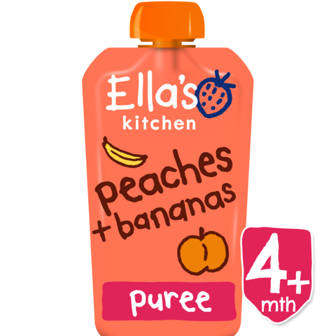 Ellas Kitchen	Peach Banana Baby Food (Org)	7x120g