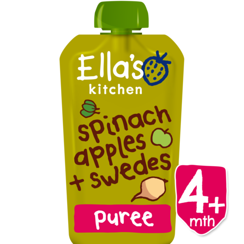 Ellas Kitchen	Spinach Apple Swede Baby Food (Org)	7x120g