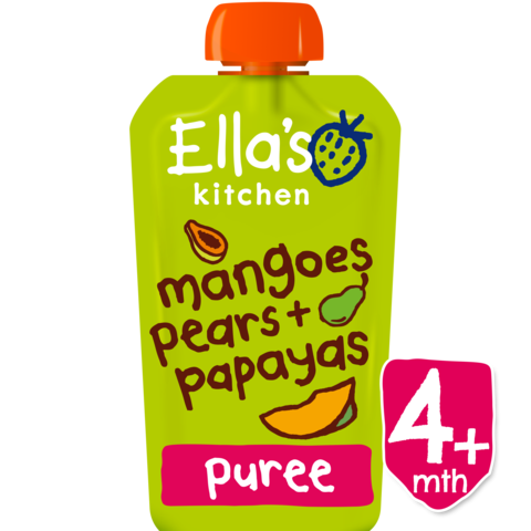 Ellas Kitchen	Mangoes,Pears & Papayas (Org)	7x120g
