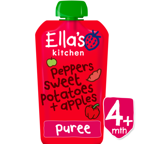 Ellas Kitchen	Red Peppers,Sweet Potatoes & Apples 	7x120g