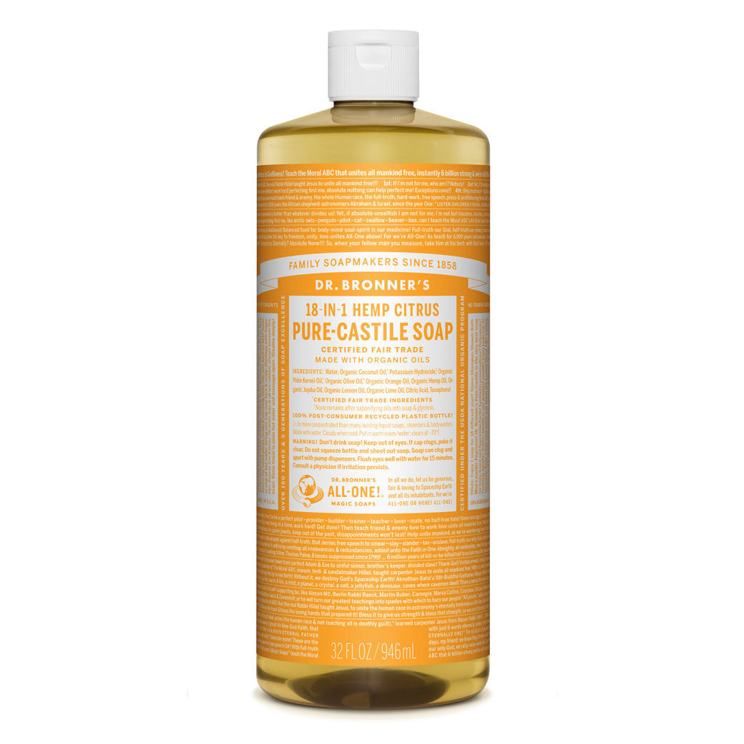 Dr  Bronner's Pure-Castile Liquid Soap - Citrus Orange Bulk