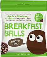 The Protein Ball Co - Apple + Blueberry VEGAN Breakfast Balls 10 sachets pack