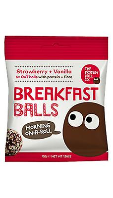 The Protein Ball Co - Strawberry + Vanilla VEGAN balls 10 sachets pack