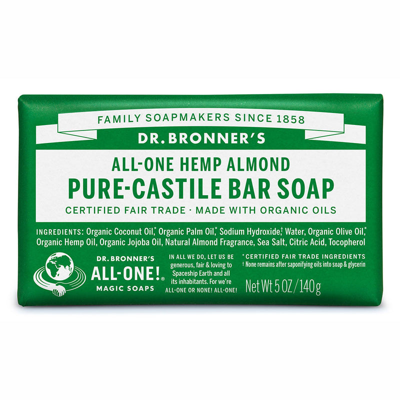 Dr. Bronner's Pure-Castile Bar Soap - Almond -140g