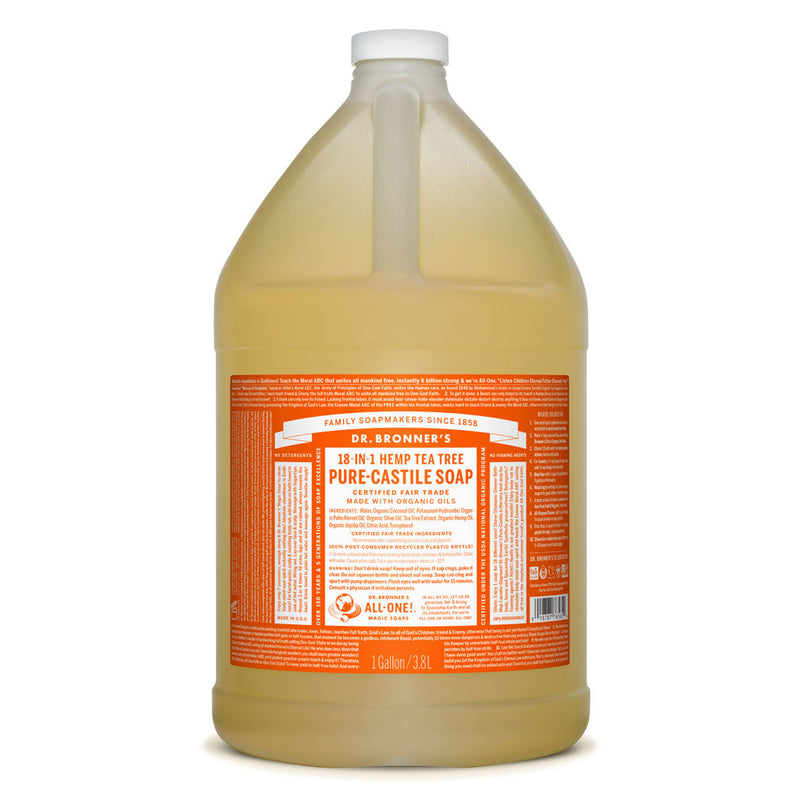 Dr. Bronner's Pure-Castile Liquid Soap - Tea Tree Bulk