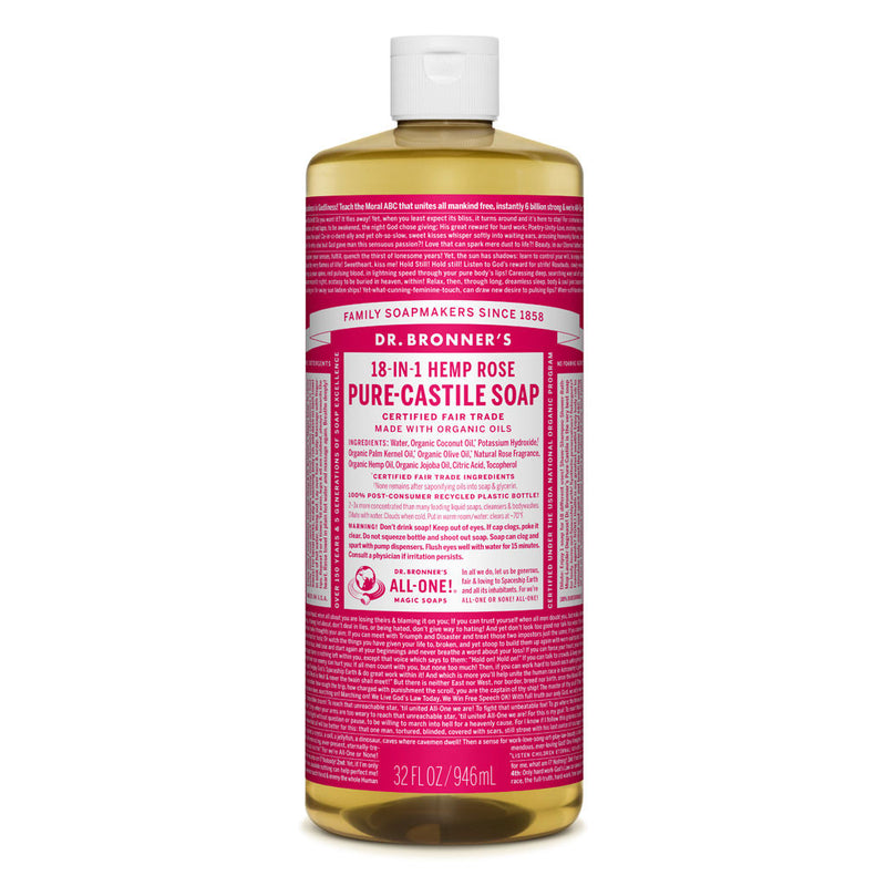 Dr. Bronner's Pure-Castile Liquid Soap - Rose Bulk