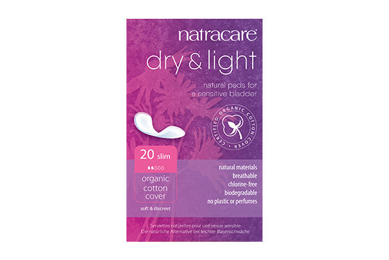 Natracare	Dry & Light Incontinence Pads	6x20Pce