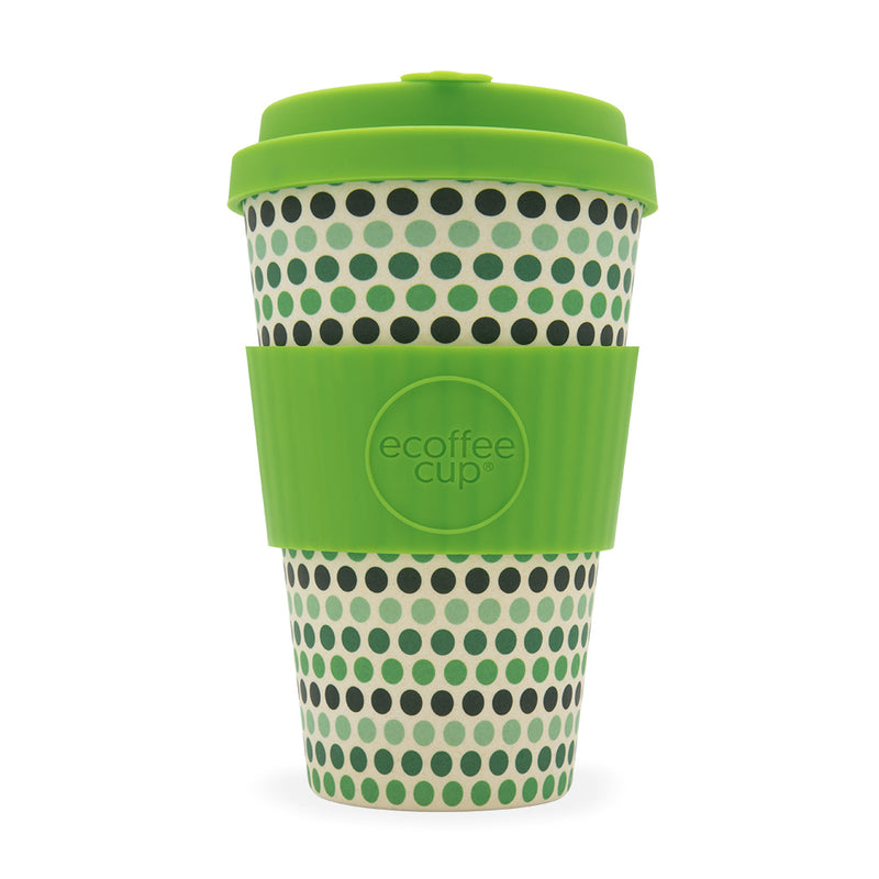 ECoffee Cup Green Polka - 14oz