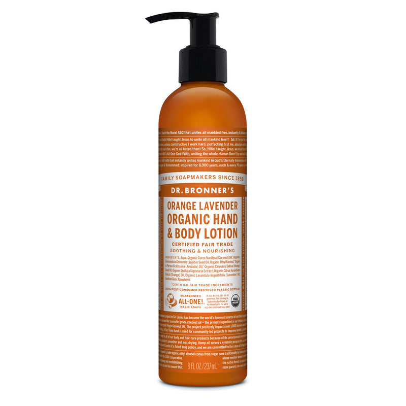 Dr. Bronner's Organic Lotion - Orange Lavender - 8oz