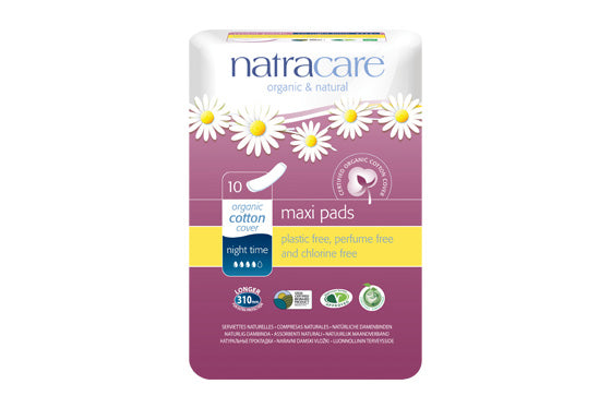 Natracare	Natural Pads - Night Time	12x10Pce