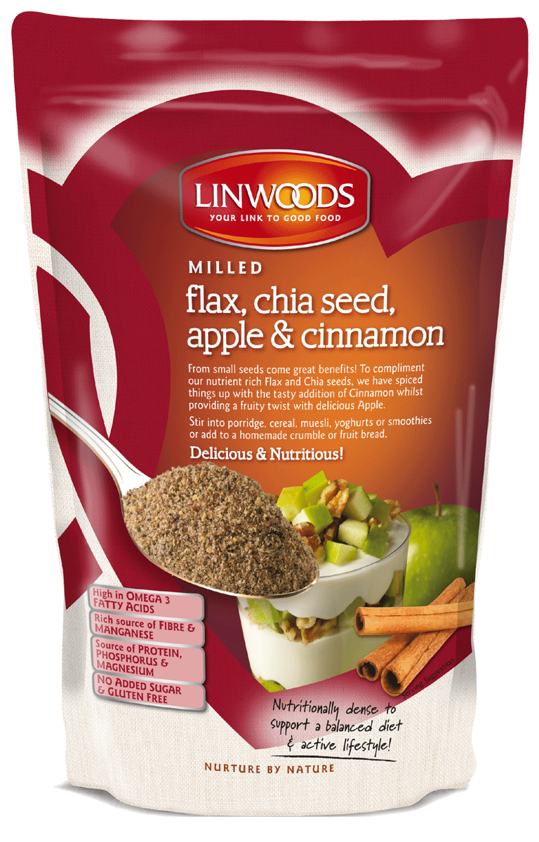 Linwoods	Flax Chia Apple Cinnamon