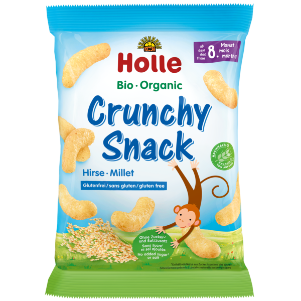 Holle Baby	Crunchy Snack Millet (Org)	12x25g