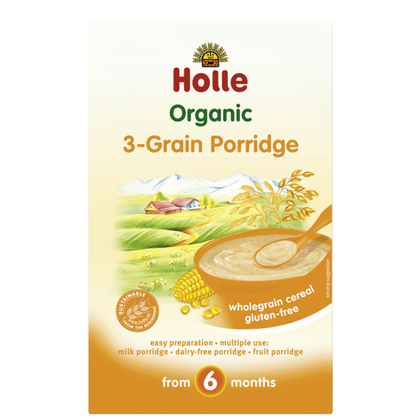 Holle Baby	Baby 3 Grain Porridge	6x250g