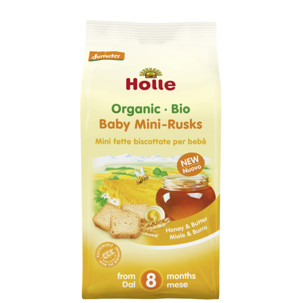 Holle Baby	Baby Mini Rusks (Org)	5x90g