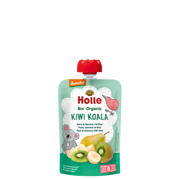 Holle Baby	Pear & Banana with Kiwi (Org)	12x90g