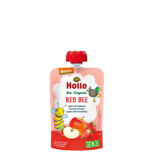 Holle Baby	Apple with Strawberries (Org)	12x90g