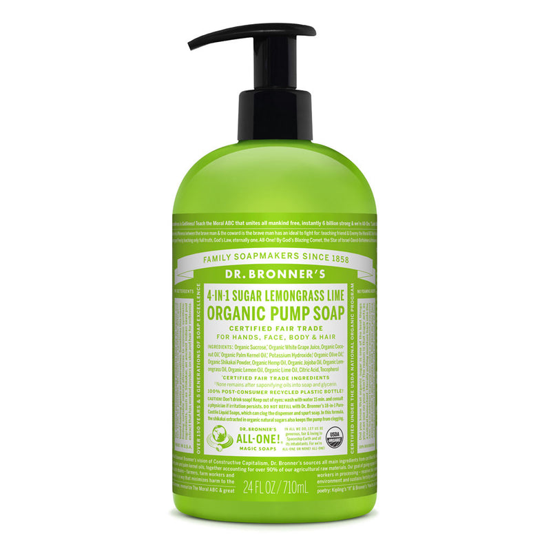 Dr. Bronner's Organic Pump Soap - Lemongrass Lime